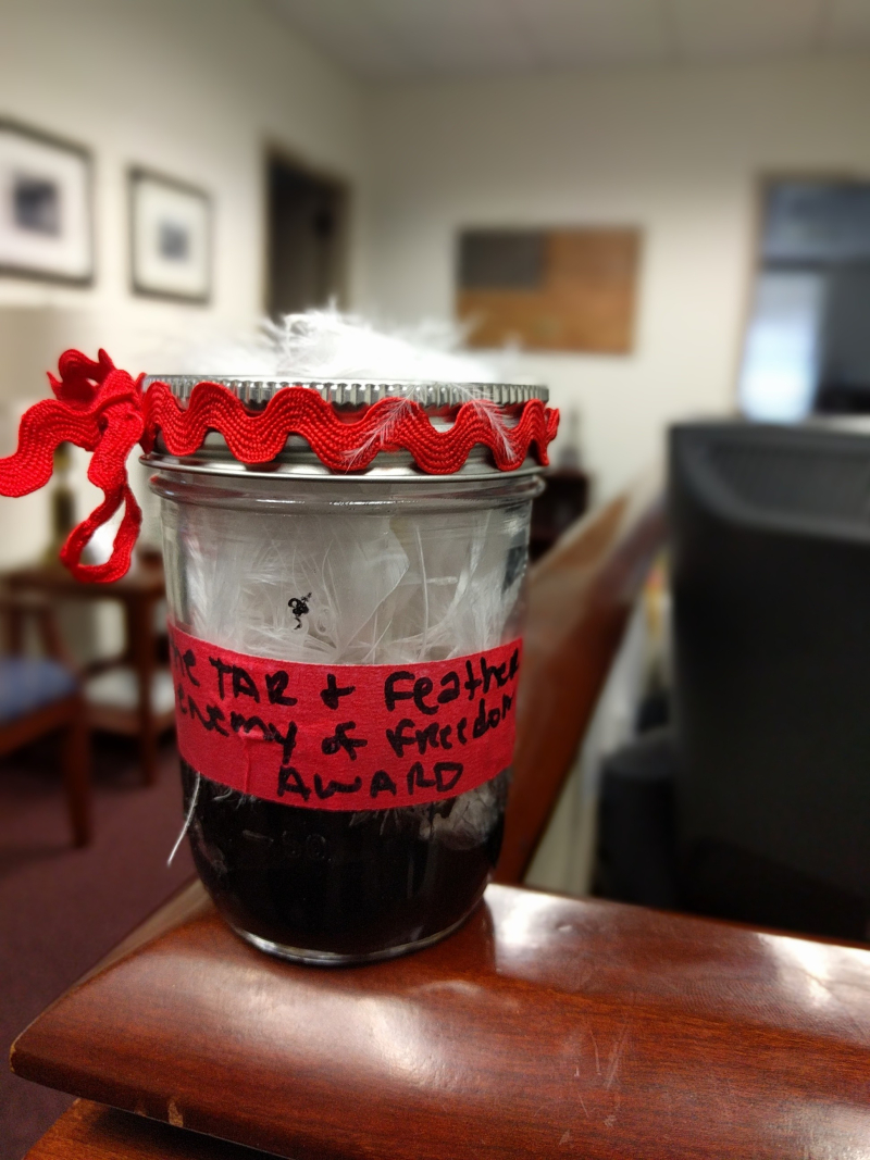 Jar of tar and feathers