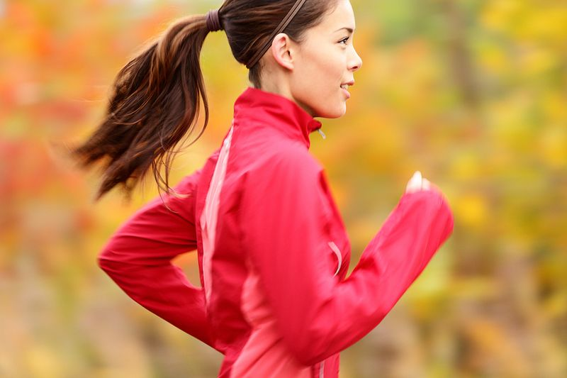 Running-in-fall-season
