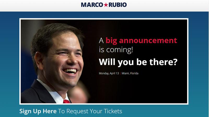 Rubio announce