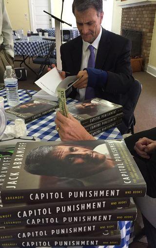Abramoff book signing