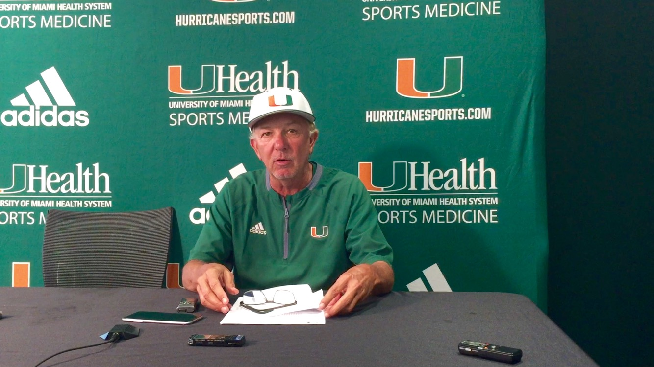 7406cffc3 Miami Hurricanes drop from No. 1 No. 4 in Baseball America poll