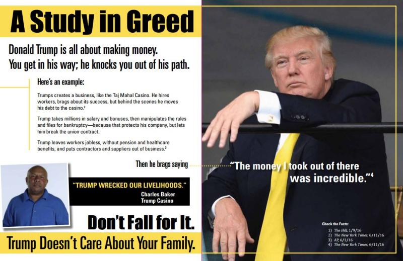 AFL-CIO drops mailers bashing Trump, praising Murphy