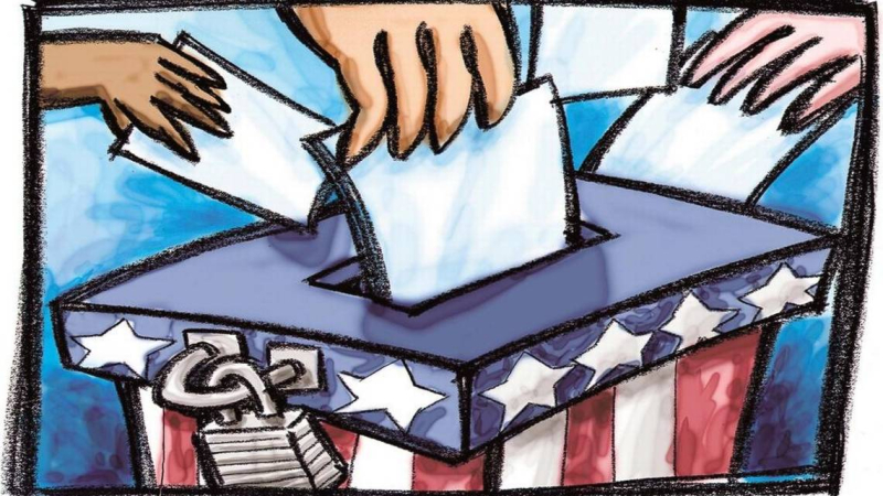 Election illo ballot box