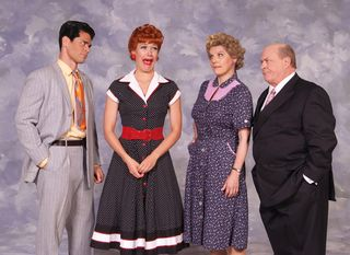 Euriamis Losada (Ricky), Thea Brooks (Lucy), Lori Hammel (Ethel) and Kev...