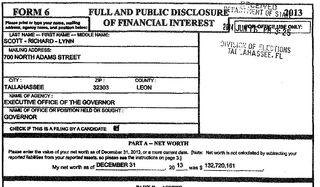 Scott financial disclosure