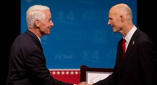 Crist and Scott at Debate 2