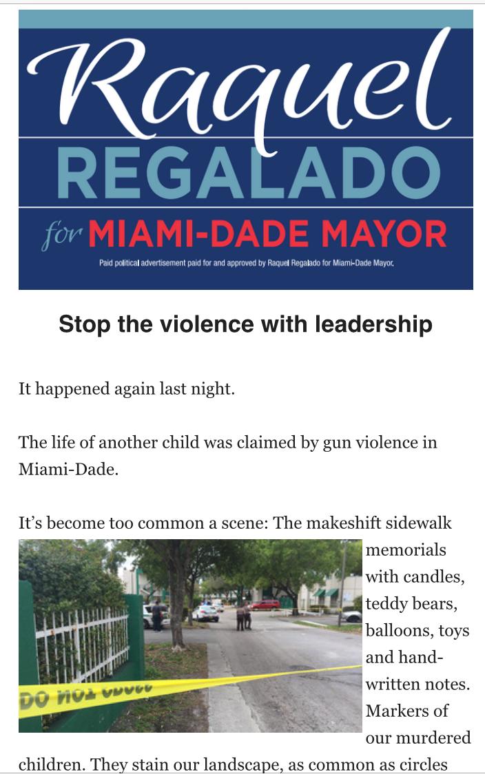 Regalado gun violence