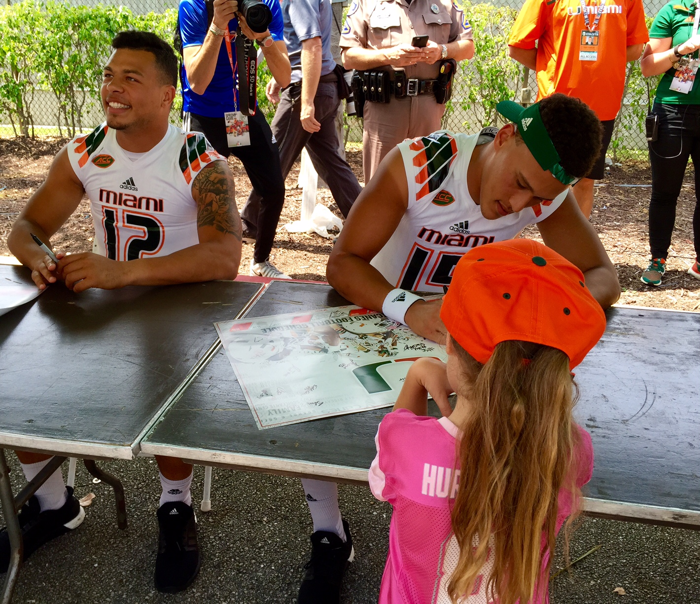 50afe160e Cool Sights and sounds U might have missed from Miami Hurricanes spring game