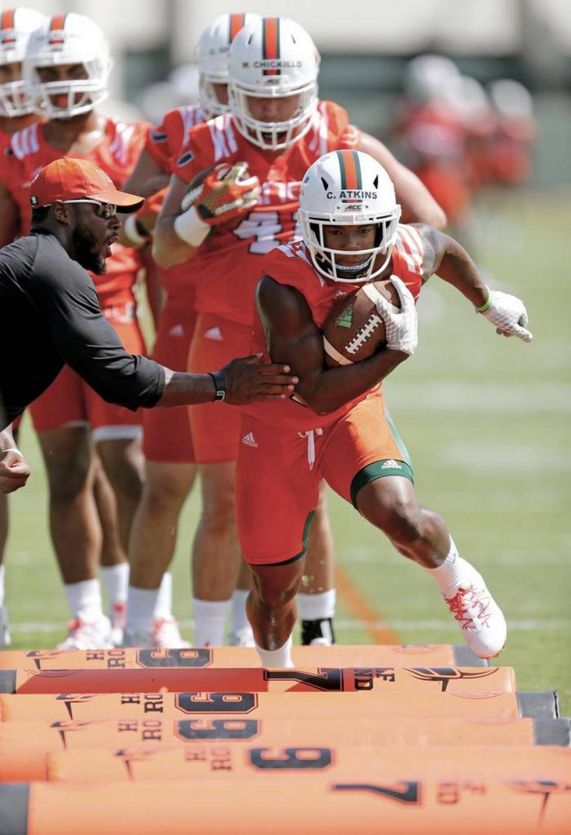 Miami Hurricanes media viewing over with one major player missing (likely  in class) f03dc53eb