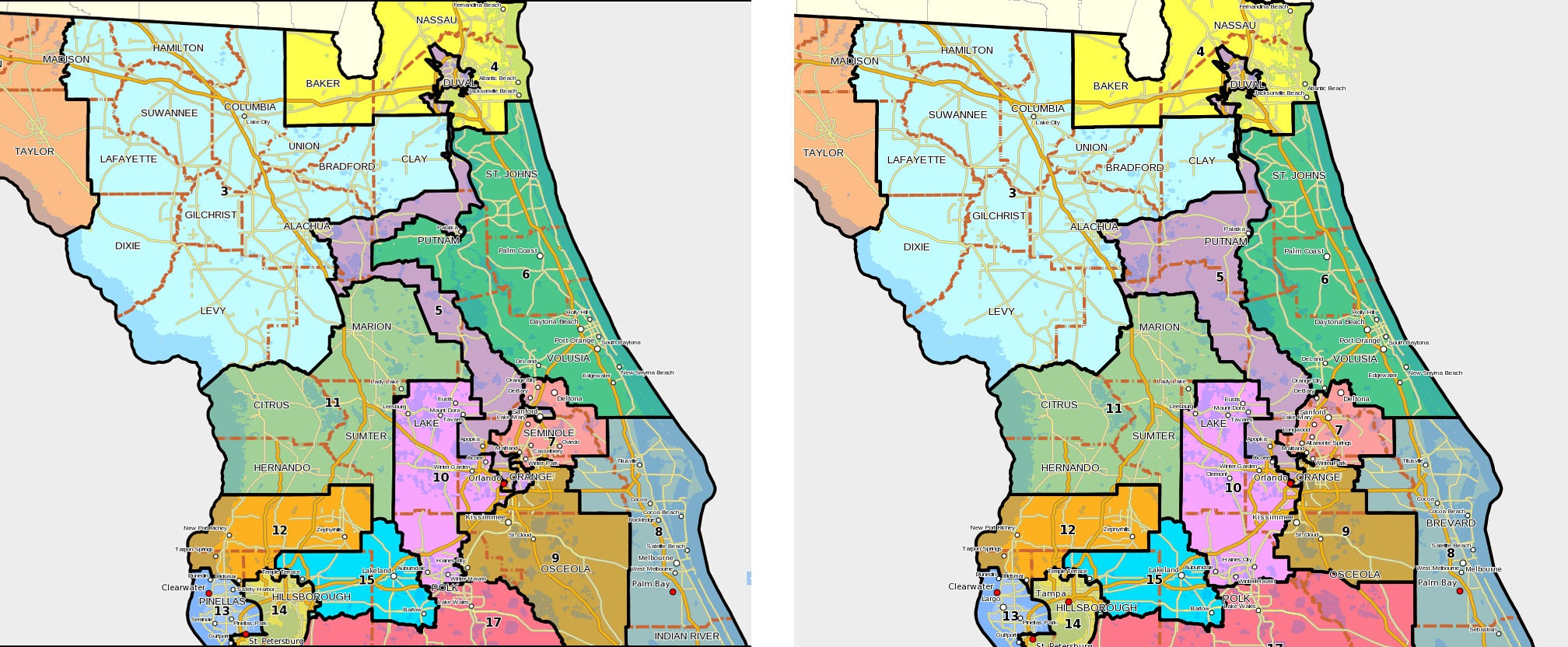 Naked Politics Redistricting Miami Herald  MiamiHeraldcom - Florida map districts