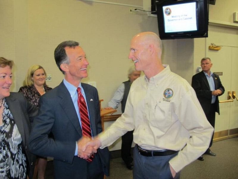 Tom Grady and Rick Scott
