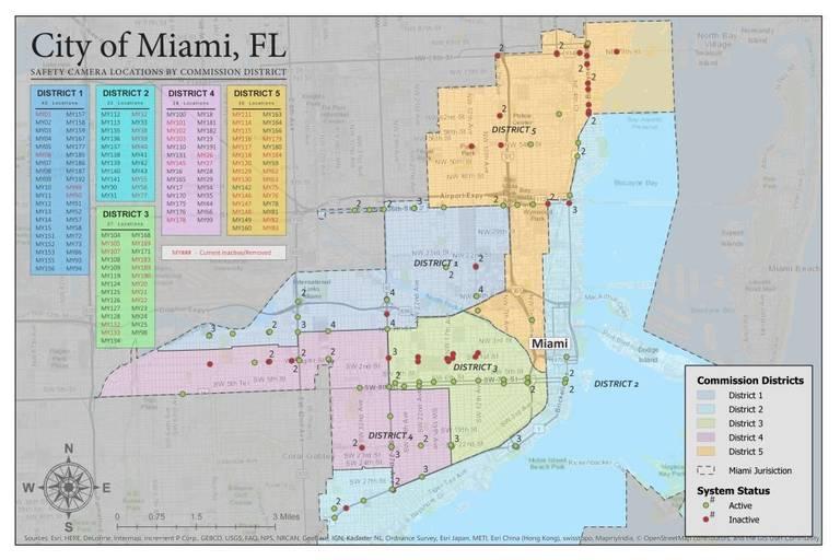 Miami Safety Camera Locations Map_Main 120717