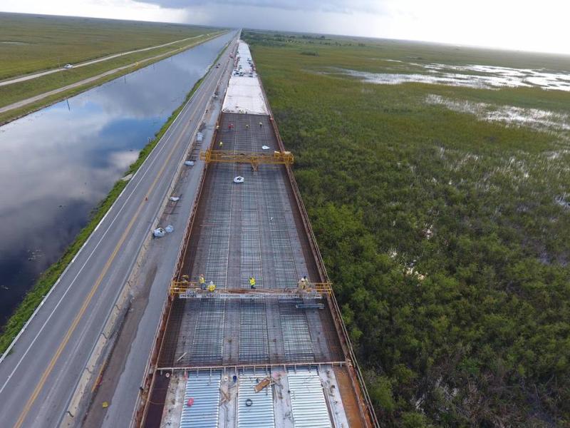 Tamiami bridge construction