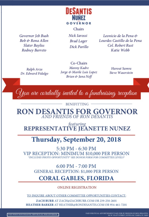 DeSantis fundraising in Coral Gables next week with Jeb Bush | Naked Politics