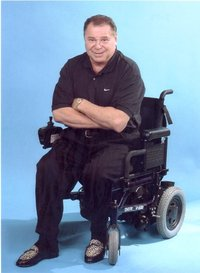 Seated in a wheelchair an actor inspires