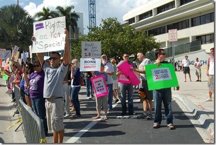 Miami Beach gay protest 012