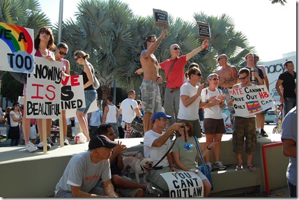 Miami Beach gay protest 049